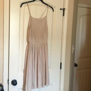 Braque Label Cream Pleated Dress